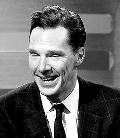When he smiled like an angel and then did this lip-biting thing and our hearts spontaneously combusted.   18 Times Benedict Cumberbatch Looked Like An Absolute GOD In A Suit