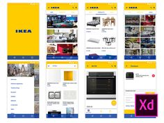 This ikea concept Android e-store - Adobe XD crafted by Thierry Teyssier might be of use in your next design project. Ikea Mobile, Adobe Xd, Design Projects, Android, Concept, Store, Larger, Shop