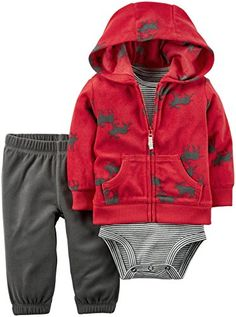 Carter's Baby Boys Cardigan Sets, Red, Nickel-free snaps on reinforced panel Elastic waistband Newborn Girl Outfits, Kids Outfits, Funny Baby Clothes, Babies Clothes, Babies Stuff, Baby Number 3, Baby Boy Cardigan, Carters Baby Boys, Baby Girls