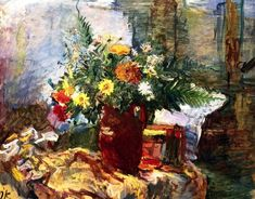 Still Life with Flowers, Oskar Kokoschka, 1931