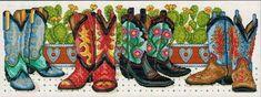 Cowboy Boots - Cross Stitch Pattern - 123Stitch.com