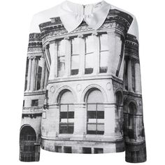 Carven digital print sweatshirt (427,550 KRW) ❤ liked on Polyvore featuring tops, hoodies, sweatshirts, sweaters, shirts, sweatshirt, white, peter pan sweatshirt, long sleeve peter pan collar shirt and white cotton sweatshirt