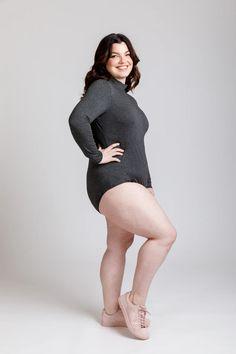 Rowan Curve Knit Bodysuit & Tee Sewing Pattern   Megan Nielsen Patterns Turtleneck Bodysuit, Rowan, Sewing Tutorials, New Product, Short Sleeve Tee, Turtle Neck, Patterns, Sleeves, Fashion