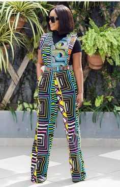 The Set Description: ▪ Ankara fabric print. All garments are custom made to your exact fitting, kindly note your Waist, Bust, Hip and Height measurements when checking out. Kindly contact us for any question you may want to asking. African Fashion Ankara, Latest African Fashion Dresses, African Print Fashion, African Wear, African Attire, African Women, African Dress, African Print Jumpsuit, Ankara Jumpsuit