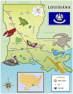 Use our kid-friendly state map for your Louisiana travels!- Little Passports #littlepassports #louisiana #louisianamap