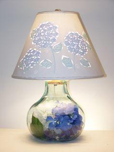 Hydrangea Lamp on Etsy, $164.40 AUD