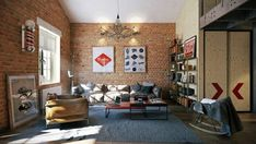 Loft Apartment by Pavel Vetrov - Archiscene - Your Daily Architecture & Design Update