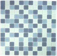 5,42 €   http://www.sygma-group.com/en/glass-mosaic/223-glass-mosaic-shower-and-bathroom-mv-mat-gri-3760227382149.html   Length: 11,81 in, Width: 30 cm, Depth: 6 mm, material: Verre, tile size: 2,3 x 2,3 cm, Quantity: 1 plaque, surface: 0,09 m2   For the realisation of your kitchen tiles, walk-in shower, steam room, pool, spa, floor and bathroom walls, we offers a wide range of glass mosaic.     Delivery by Colissimo International: Europe 4-5 days Other countries upon request