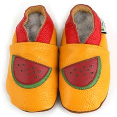 Watermelon Soft Sole Leather Baby Shoes - Overstock Shopping - Big Discounts on Augusta Baby Girls' Shoes