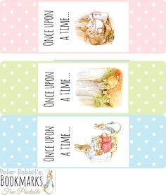PRINTABLE Peter Rabbit's Bookmarks | Scribd