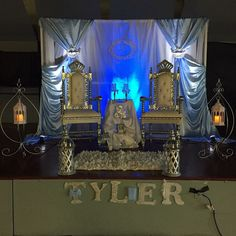 Crown Chair rentals in Silver and white
