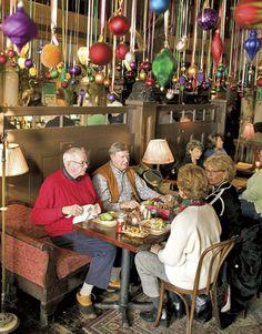 Bentley's Restaurant during Christmas ~ Woodstock, Vermont