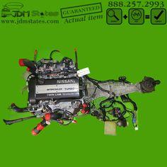 JDM 92-95 Nissan SR20DET TURBO S13 240SX Black top Engine & Manual Transmission