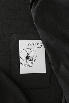 Charcoal Bouquet Event Table Numbers Set Classic Wedding | BEXLEY DESIGN CO