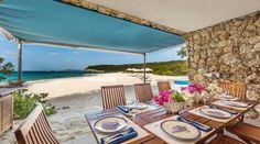 lunch at your own private beach grotto in Anguilla