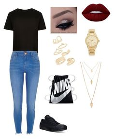 """""""Never trusted"""" by brylei10 on Polyvore featuring Converse, Lime Crime, Michael Kors, Topshop, Forever 21 and NIKE"""