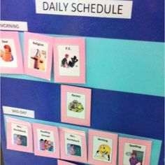 Daily schedule. Visual timetable