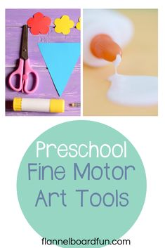 Glue, crayons, paper...  So simple, but so perfect for every preschool classroom or at home art area.  AND they build fine motor skills.  Come learn all about it! #preschool #play #art