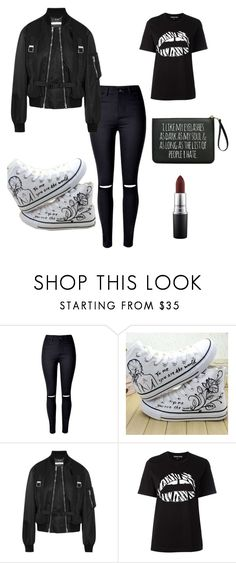 """""""Dark...Like my Soul"""" by shellynne05 ❤ liked on Polyvore featuring WithChic, HVBAO, Givenchy, Markus Lupfer and MAC Cosmetics"""