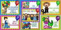 Maravillosos diseños de las efemérides del mes de abril | Educación Primaria