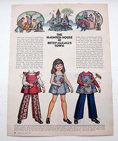 Vintage Betsy McCall Paper Dolls June 1973
