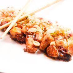 Kip met gebakken rijst Risotto, Shrimp, Meat, Ethnic Recipes, Food, Meal, Eten, Meals
