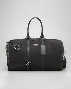 Large Duffel Bag by Prada at Bergdorf Goodman.