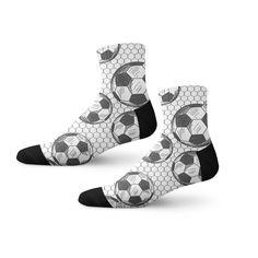 Soccer Balls Socks!   #Funsocks #Crazysocks #Coolsocks #Noveltysocks #Cuffsocks #Socklovers #athleticsocks #whiteandblacksocks #coolsocks