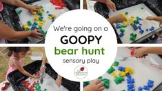 We're going on a goopy bear hunt sensory play feature Sensory Activities, Sensory Play, Family Day Care, Fine Motor, Lesson Plans, Preschool, To Go, Teddy Bear, Colours