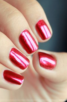 Zoya Nail Polish in Sarah is a festive red for the Fourth of July or Christmas!