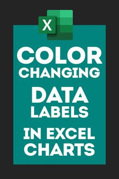 In this tutorial we will learn how to format Data labels in Excel Charts to make them dynamically change their colors. Excel Tips, Excel Hacks, Microsoft Excel Formulas, Excel For Beginners, Computer Programming, Computer Tips, Learning Courses, Financial Tips, Education Quotes