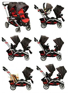 Optima Tandem Stroller 6 ways in 1 Only $289!   ALL-IN-ONE