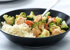 Bloemkoolrijst met kip en groenten