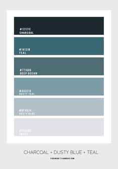 Charcoal, dusty blue and teal bedroom color combos Light Teal Bedrooms, Teal Master Bedroom, Teal Living Rooms, Bedroom Colors, Teal Paint Colors, Teal Color Schemes, Living Room Color Schemes, Color Combos, Blue Painted Walls