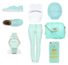 """""""sunshine"""" by daqueenbiatch ❤ liked on Polyvore featuring Wildfox, Love Moschino, Vans, BaubleBar, Armani Exchange and Topshop"""