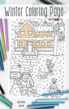 Winter Coloring Page Free Printable