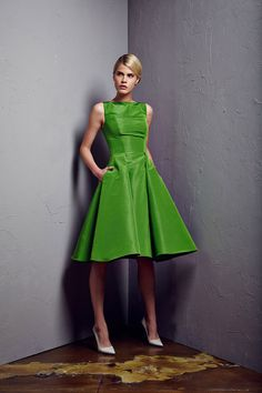 Pamella-Roland resort-2015 green dress