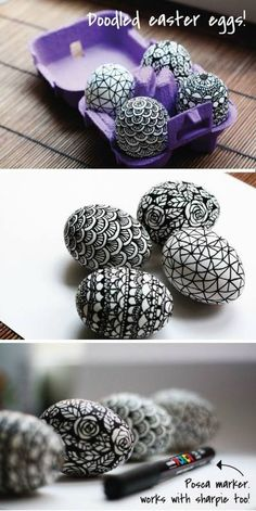 Diy pastel decorated Easter eggs