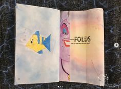 Fold this Page. Yes, with my favorite Disney movie 🥰🎨👩🏻🎨 Disney S, Disney Movies, Create This Book, Wreck This Journal, Rose Design, White Roses, Ursula, My Favorite Things, Journal Ideas