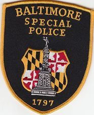 BALTIMORE SPECIAL POLICE SHOULDER PATCH MARYLAND