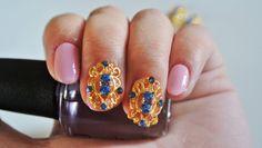 3d nail art / 2 pc a pack / nail cover / nails / Nail Art / Accessories / Gold / Rhinestones / Young Nails / Nails Decoration / Nail Design
