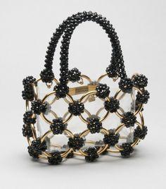 Handbags Woman's Bag - Label Bergdorf Goodman, New York - Made in Italy Clear plastic, black plastic beads, gold metal - Source by bag black Denim Handbags, Fashion Handbags, Purses And Handbags, Fashion Bags, Leather Handbags, Fashion Fashion, Vintage Purses, Vintage Bags, Vintage Handbags