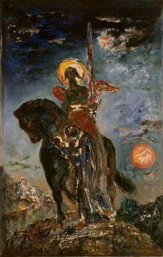 """""""La Parque et l'Ange de la mort"""" par Gustave Moreau"""