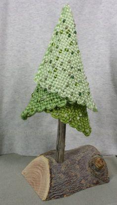 """""""Summer"""" part of seasonal and holiday series of trees Juletræ Pin Weaving, Tablet Weaving, Weaving Art, Weaving Patterns, Loom Weaving, Tapestry Weaving, Loom Bands, Navidad Diy, Fabric Yarn"""