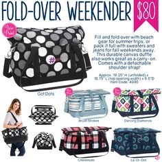Thirty-One Fold-Over Weekender - Spring/Summer 2017