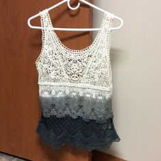 "NWOT American Eagle ""crocheted looking"" top Never worn!!! American Eagle Outfitters Tops"