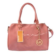 Michael Kors Embossed leather Medium Pink Satchels only $72.99