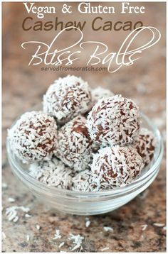 Packed with protein and made with the super food cacao, these little Bliss Balls are the perfect energy packed, sweet, healthy treat!