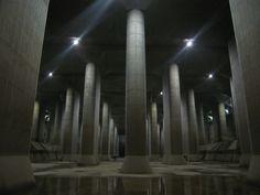 Metropolitan area outer underground discharge channel - Worlds largest underground flood water diversion facility