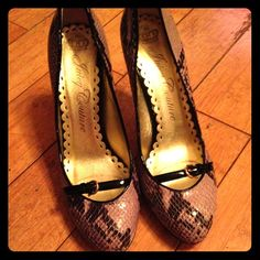 Juicy couture snakeskin pumps Great condition-gold bottoms Juicy Couture Shoes Heels